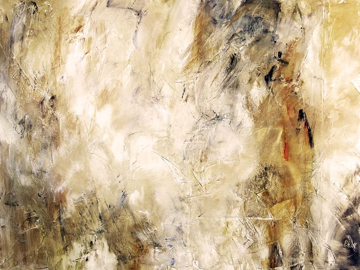 """Abstract Neutral Canvas Art Print- """"Traces of Time"""" from Chicago Skyline Art - Paintings"""