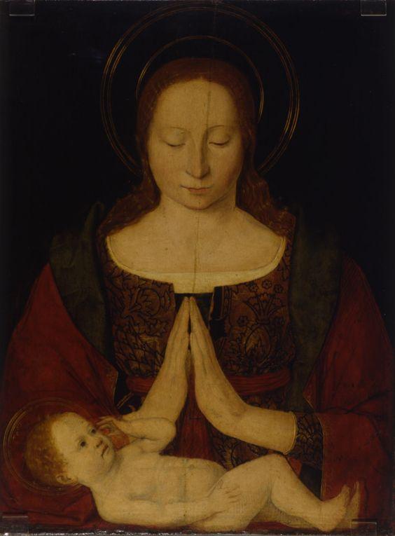 Franco-italianizzante, Madonna che adora il Bambino, fine XV - inizi XVI secolo - Dal XIV al XIX sec - MAR - Museo d'Arte della città di Ravenna