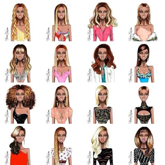 Beyonce Style Evolution #Beyonce #FashionIllustration #BeyonceStyleEvolution Please tag and share⬇️ @beyonce @beylite