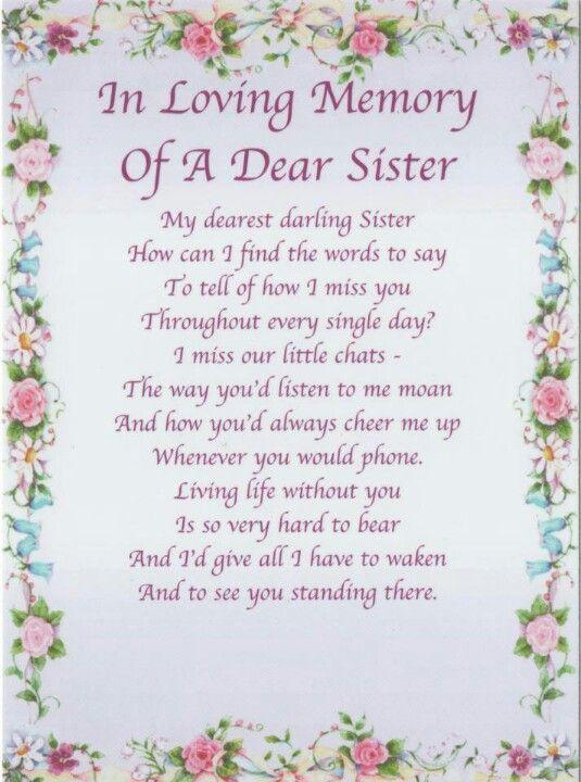 17 Best Ideas About Sister In Heaven On Pinterest