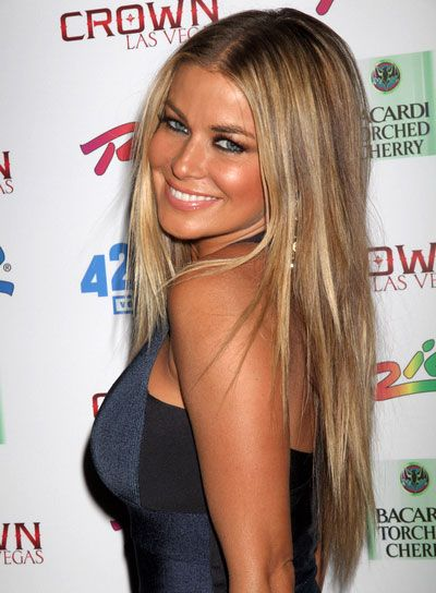 Carmen Electra ♥ LOVE, love LoVE this  hair color!!! @Laura Waggoner. See you Wednesday girlfriend!!
