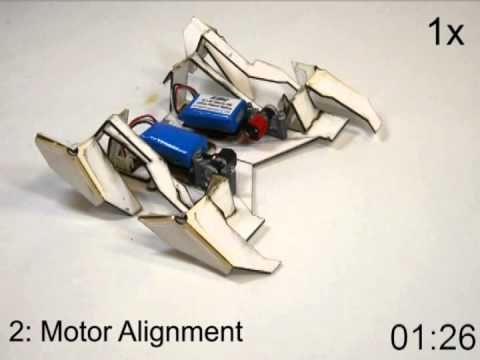 Self-Folding Crawler: A Transformer-style Origami Robot | The Kid Should See This