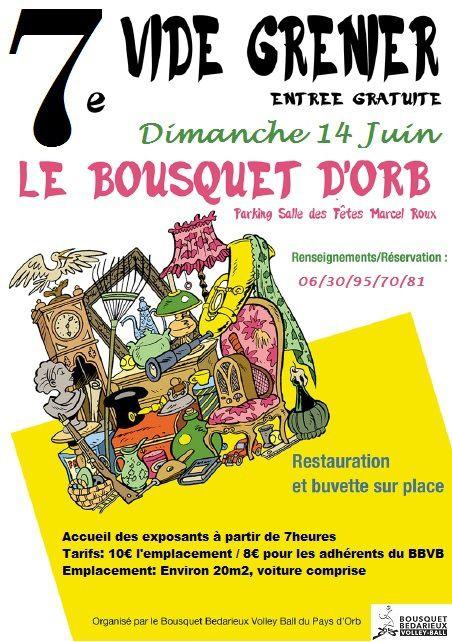 Vide grenier samedi 14 juin 2015 à Bousquet d'Orb - Hérault