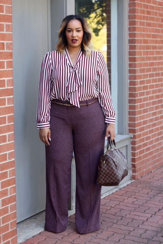 nice How to wear plus size tweed pants in flattering ways