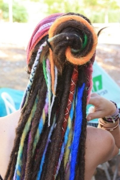 Synthetic and natural dreadlocks. Dread Locks Looks cool but I'd never do it!