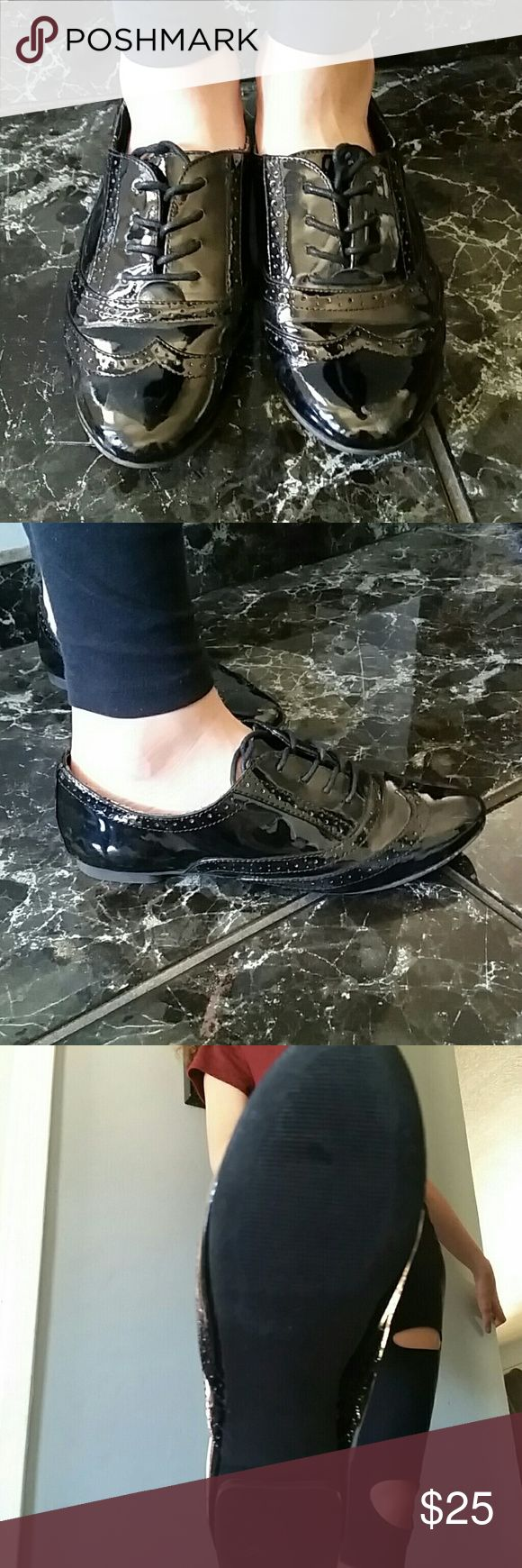Black patent leather shoes Black patent leather shoes Aldo Shoes Flats & Loafers