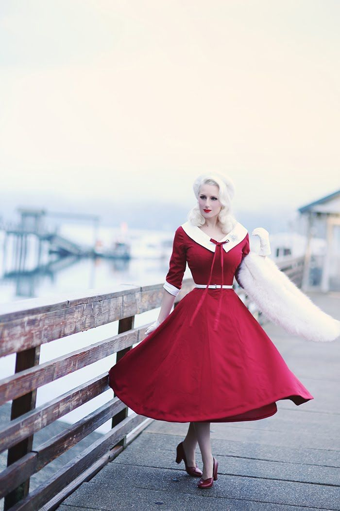 Chicago Chic ♥ with a red retro dress