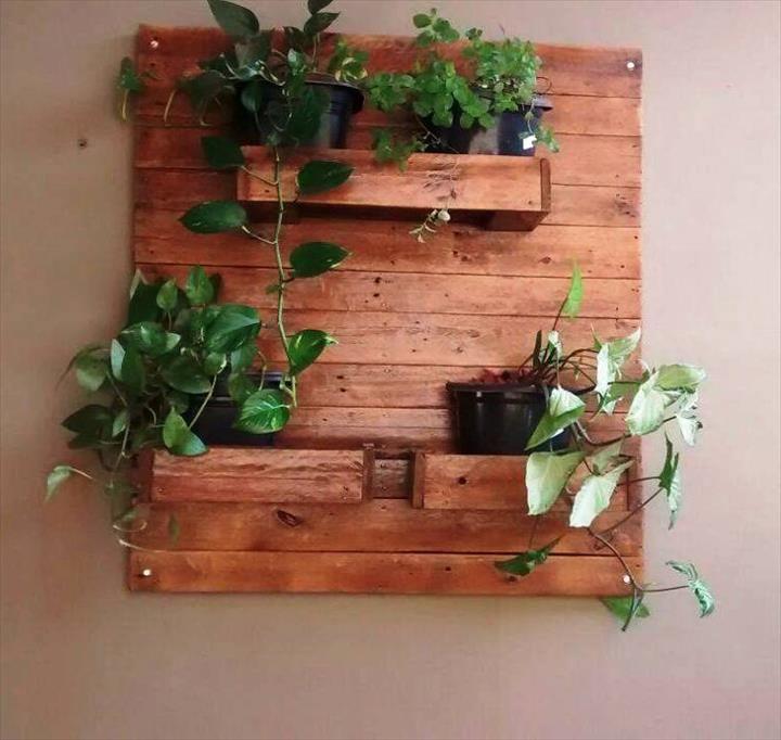 Pallet Planter Holder - Genius Pallet Ideas