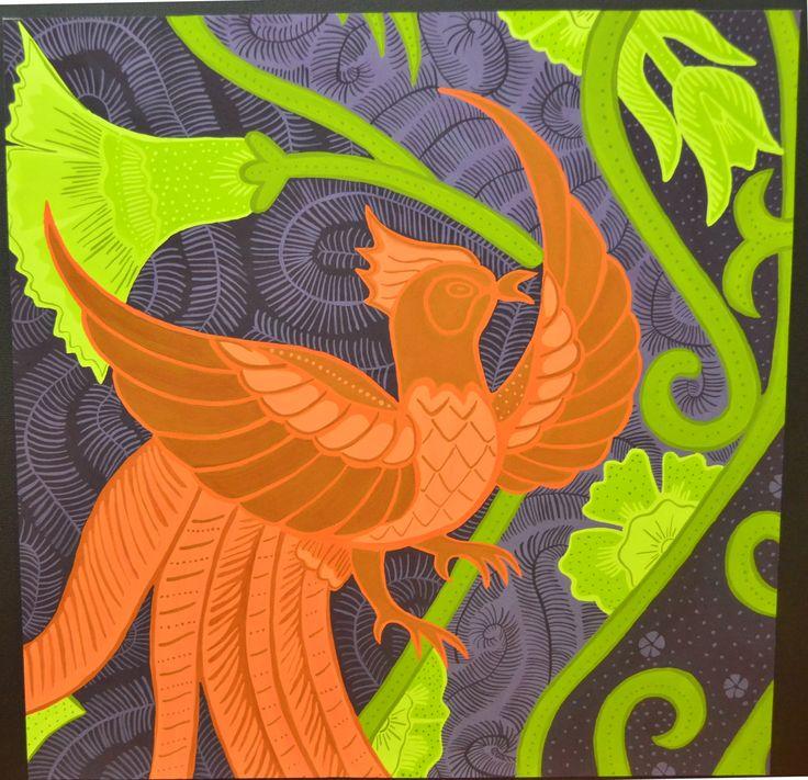 Recolour batik_Gloria paper_Poster colour