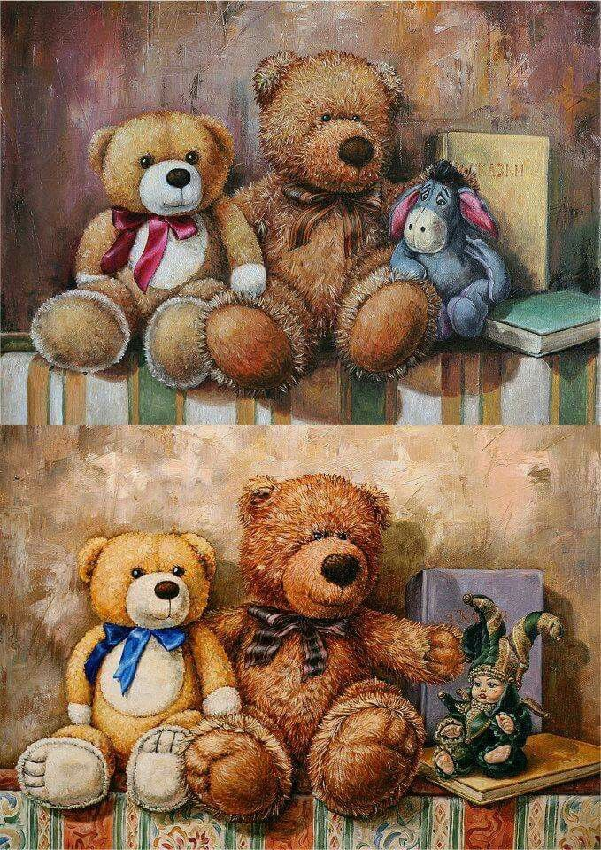 отделение картинки медвежат для декупажа они бывают, как