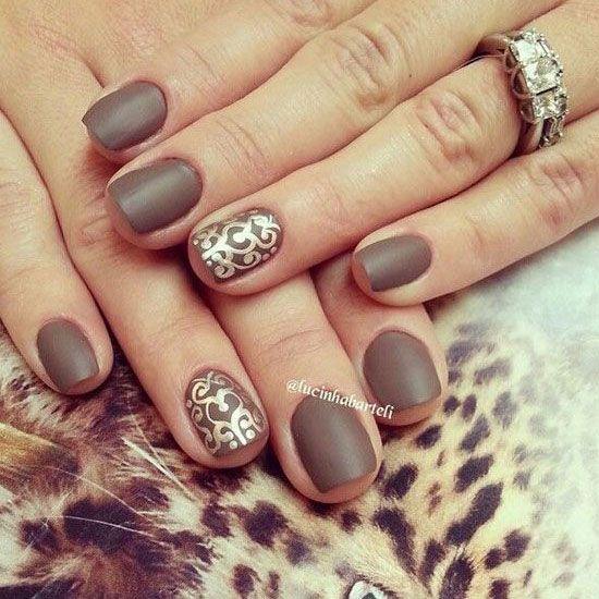 30 Amazing Brown Nail Designs  #brownnails #naildesigns2015 #nailart2015