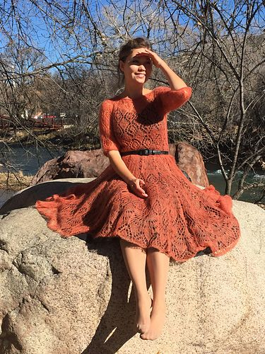 Ravelry: tatty152's Freya Mohair dress (Fiery)