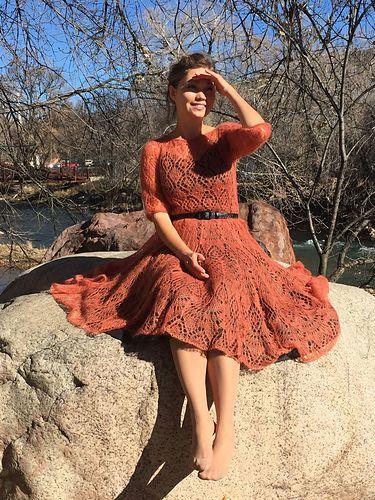 Ravelry: tatty152's Freya Mohair dress (Fiery)