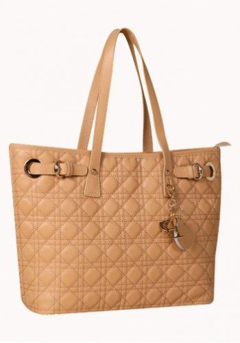 Milla Quilted Tote in Beige http://www.contempobags.com/milla-quilted-tote/