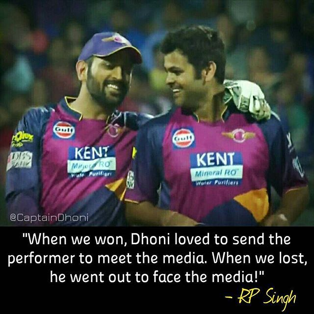Repost ------- @CaptainDhoni . RP Singh just summed up the selflessness of MS Dhoni with this lovely quote of his! ❤