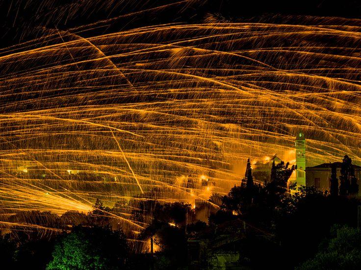 Rocket war in Chios!