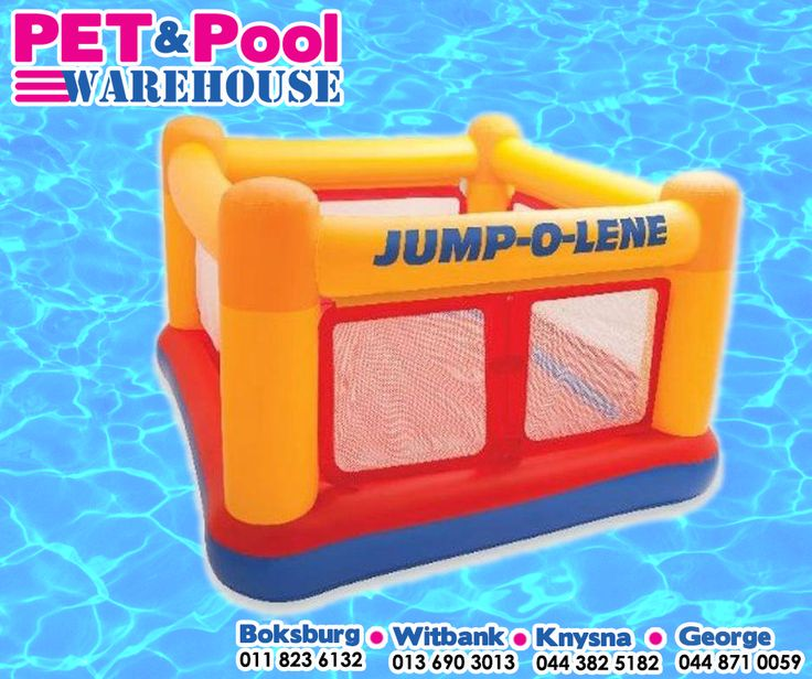 Let the kids have fun with assorted range of Intex inflatables, such as Jump-o-lene playhouse! Available from your nearest Pet & Pool Warehouse. #intex #PetPool #SummerFun