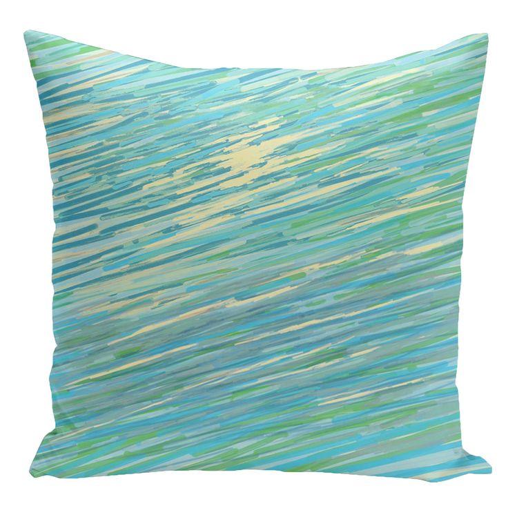 e by design Decorative Abstract Coastal Down Throw Pillow