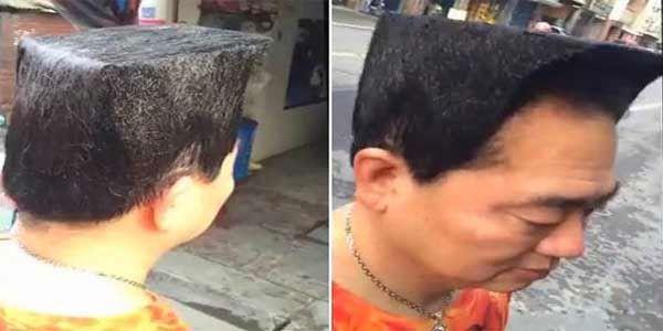 Pria Ini Membuat Gaya Rambut Yang Aneh Untuk Terlihat Lebih Muda - Harusbaca.com