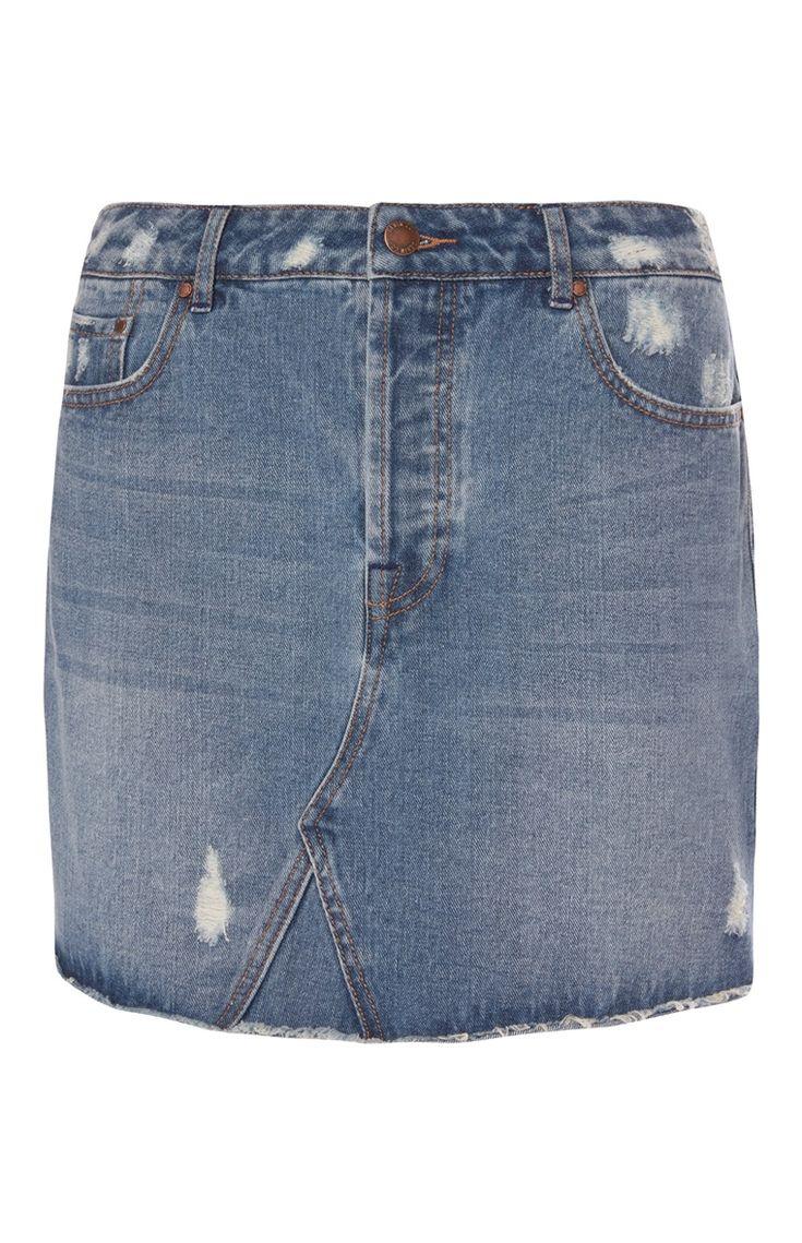 Primark - Ripped Denim Skirt