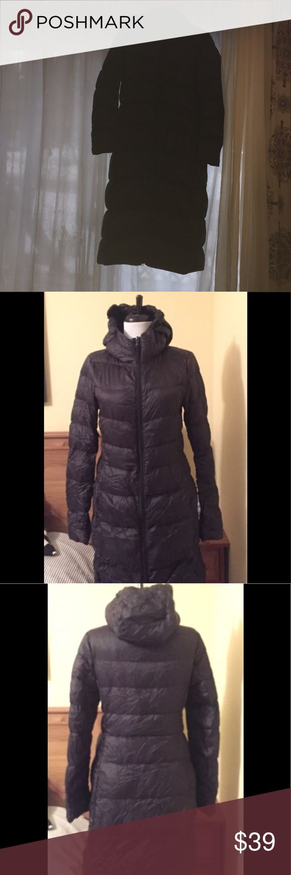 Packable down extra long uniqlo coat Gently used perfect condition uniqlo down coat 45 inches from shoulder to end seam Uniqlo Jackets & Coats Puffers
