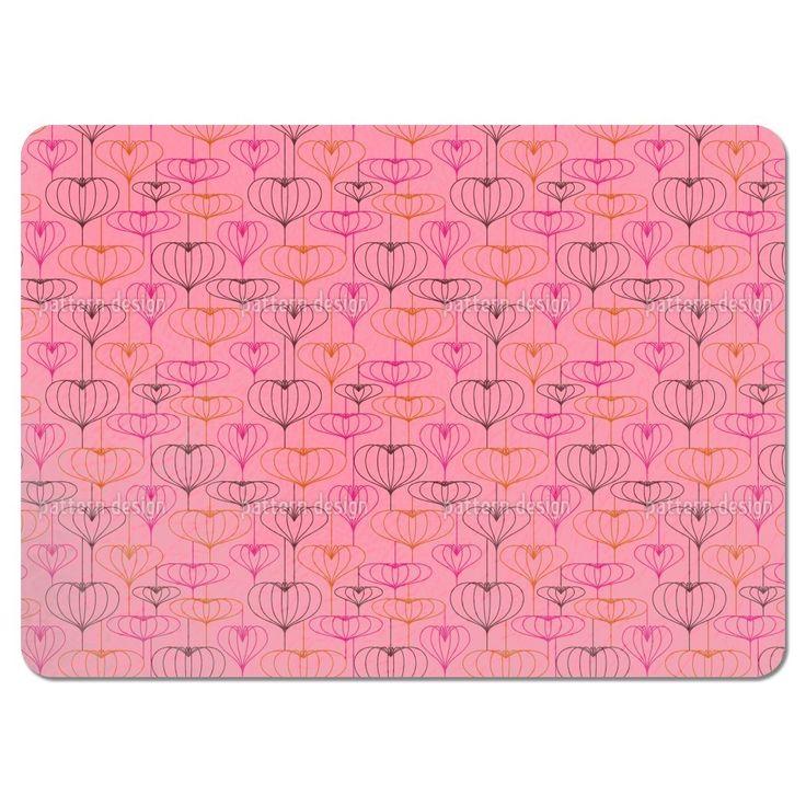 Uneekee Heart Lantern Pink Placemats (Set of 4) (Heart Lantern Pink Placemat) (Polyester)