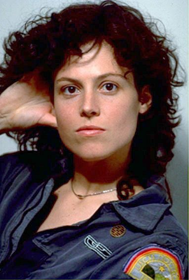 Sigourney Weaver as Ripley in Alien. My kinda girl! The best scifi movie ever. She kicked that Aliens ass.