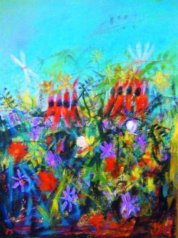 Wild Flowers by Pro Hart