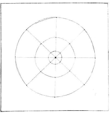 Basic instructions for drawing a mandala without the use
