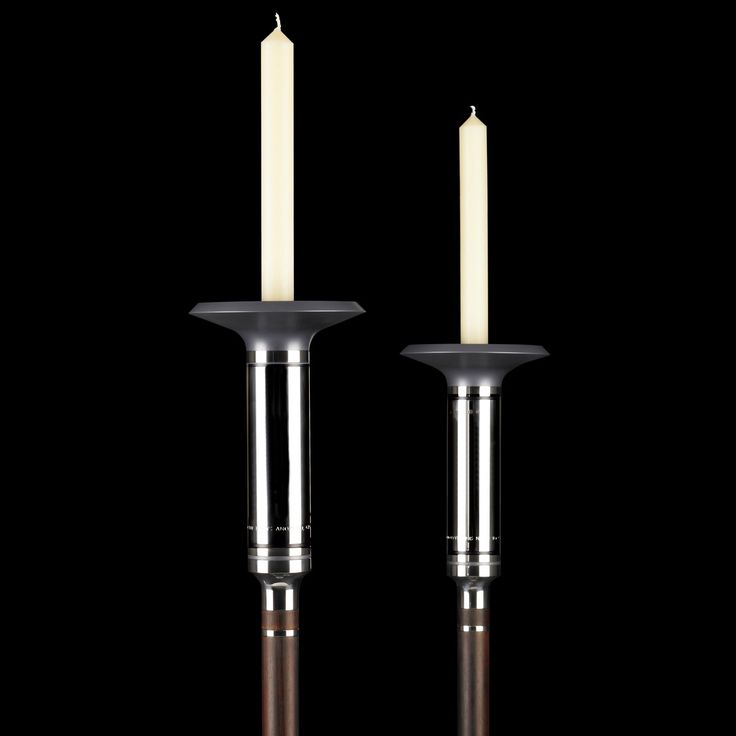 Acolyte Torches. Sterling Silver, Rosewood and Anodised Aluminium. Corin Mellor for Sheffield Cathedral, 2015. #silver #torches #sheffield #cathedral #davidmellor