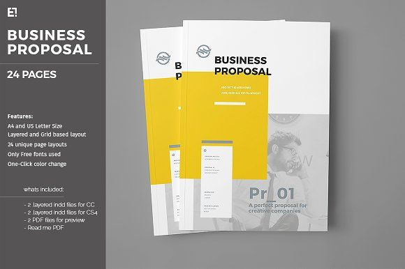 Proposal Template  By Id Vision Studio On Creativemarket