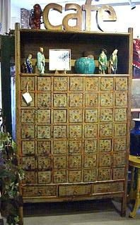 Antique Chinese Apothecary tall cabinet
