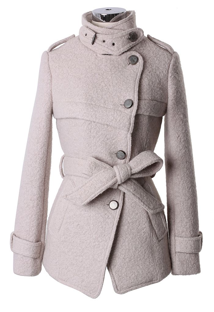 Military Style Belted Trench Coat