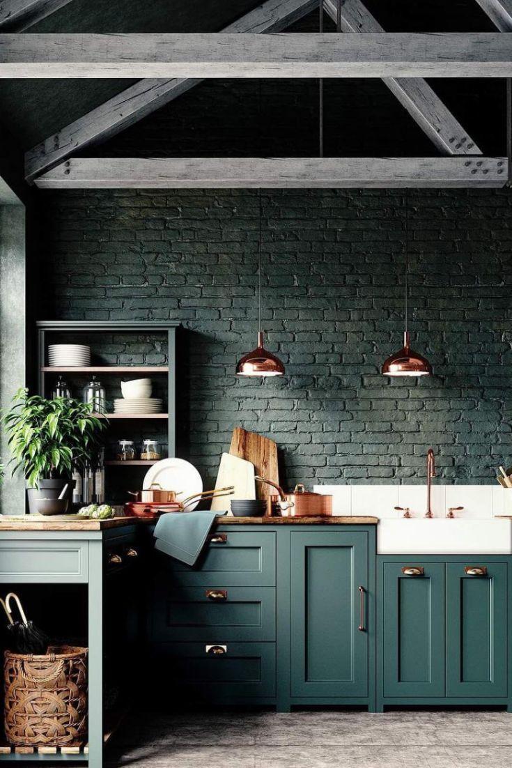 Design De Cuisine De Luxe En 2020 Interieur De Cuisine Cuisine Verte Design De Cuisine Moderne