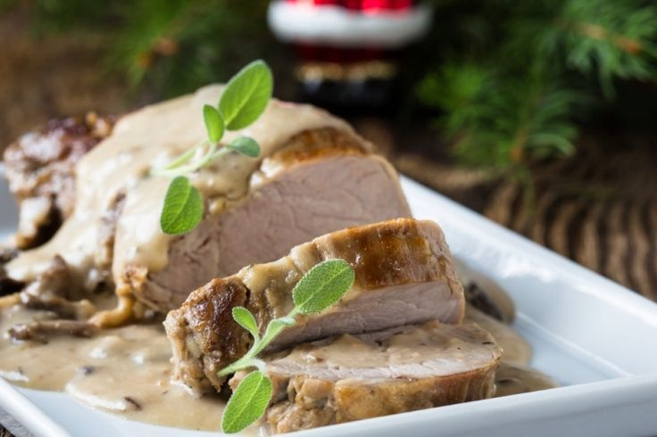 Filet de porc... vin et herbes servis avec une excellente sauce crémeuse