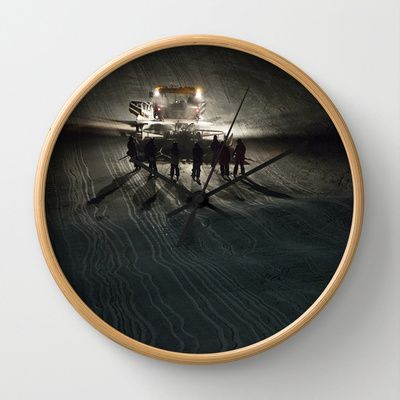 Epic cat light at Nine Knights 2014 Wall Clock by Håkon Jørgensen - $30.00