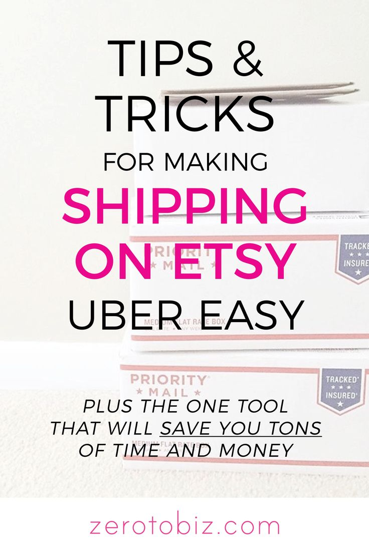 Tips for Shipping on Etsy