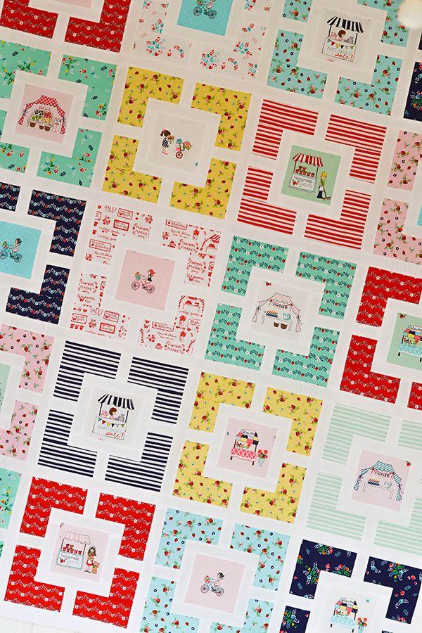 Down Grapevine Lane: Garden Lattice Quilt featuring Vintage Market fabric designed by Tasha Noel for Riley Blake Designs #iloverileyblake #vintagemarket #tashanoel