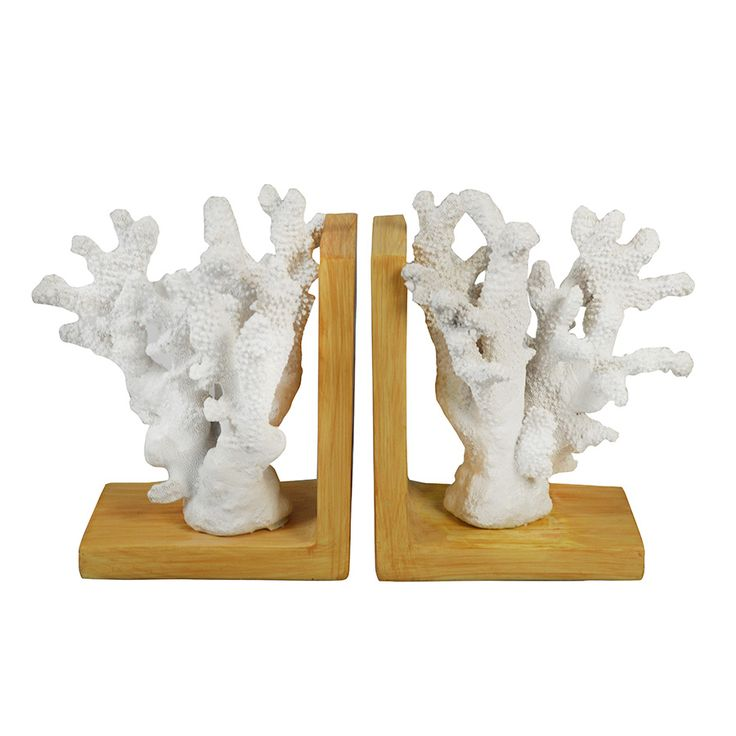 Madras Link Coral Bookends