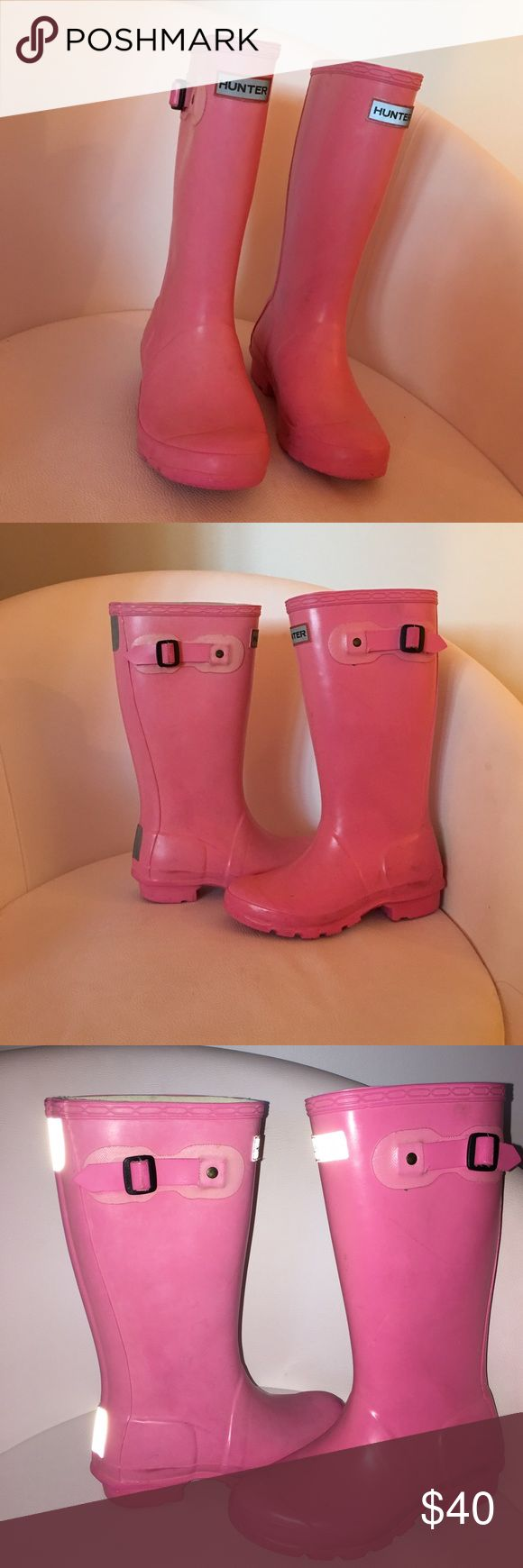 Childrens' pink hunter rain boots Cute pink boots for kids Hunter Boots Shoes Winter & Rain Boots