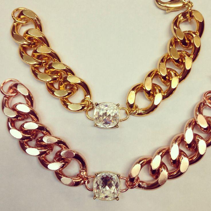 Color oro amarillo y oro rosa Colección MAXI-CHAIN