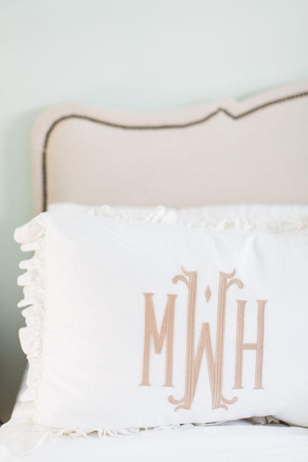monogrammed pillow | Anna K