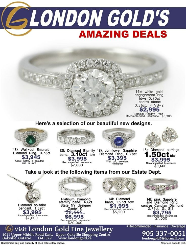 Diamonds, Gold & Jewels #LondonGold #Oakville #ShopLocal