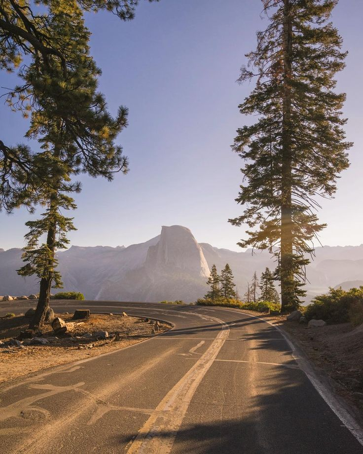 """""""I continued my tour of undiscovered locations with this curvy road…"""" (Yosemite, California) by Nate Luebbe (@nateinthewild) on Instagram cr.c."""