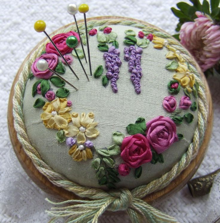 Best вышивка лентами images on pinterest embroidery
