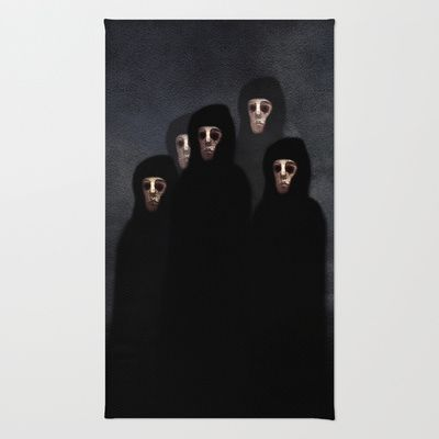 The meeting. Rug by Viviana Gonzalez - $28.00