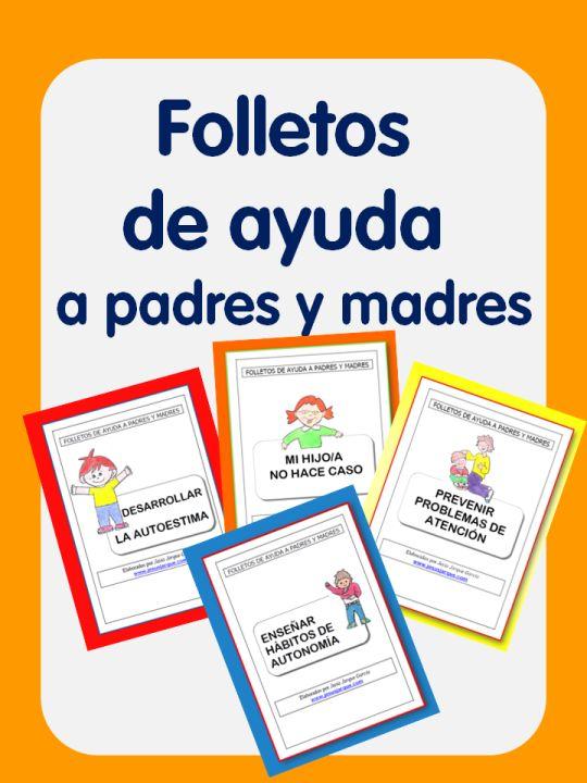 Folletos de ayuda a padres y madres