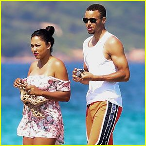 Stephen Curry & Wife Ayesha Relax on St. Tropez Vacation