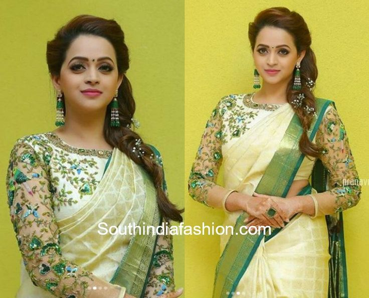 Indian Celebrities Exquisite Saree Clothings: Bhavana's Haldi Look, Actress Bhavana wedding sarees and jewellery