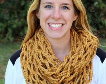 Tejer bufanda - bufanda punto grueso - bufanda hecha punto de bufanda - bufanda grueso infinito - infinito - invierno bufanda - bufanda grueso - Infinity bufanda de punto